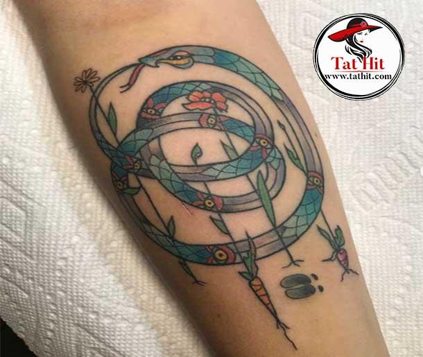 Colors of Ouroboros tattoo designs