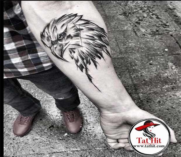 Eagle eye tattoo design