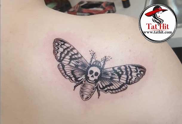 death moth tattoo ideas