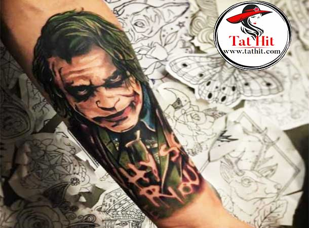 killing joker tattoo on the sleeve for men