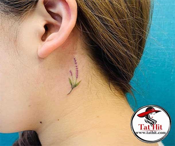 lavender tattoo small