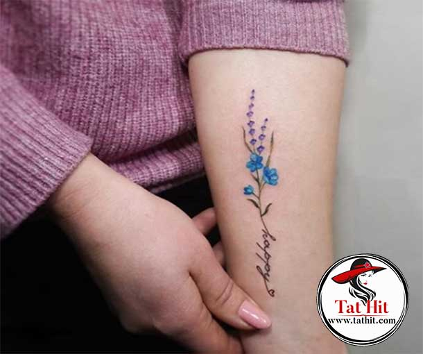lavender with text tattoo ideas