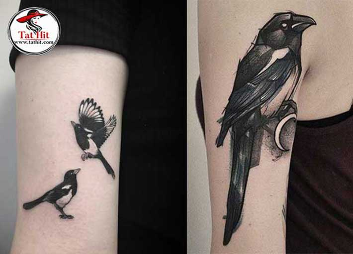magpie tattoo designs with meaning