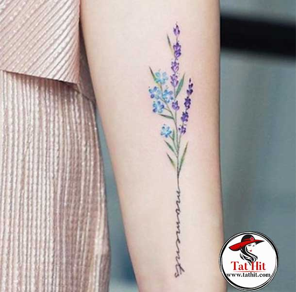 simple lavender tattoo