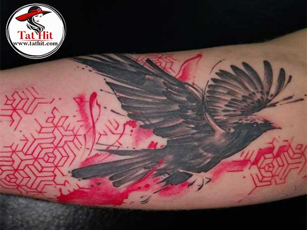 Celtic crow tattoo designs with meaning