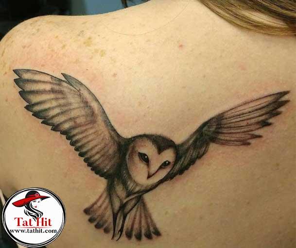 Flying Owl tattoo design