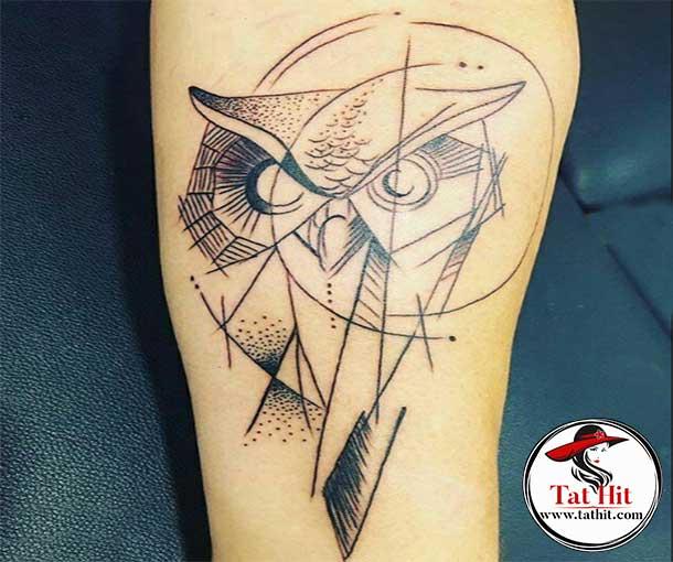 Geometric owl tattoo ideas