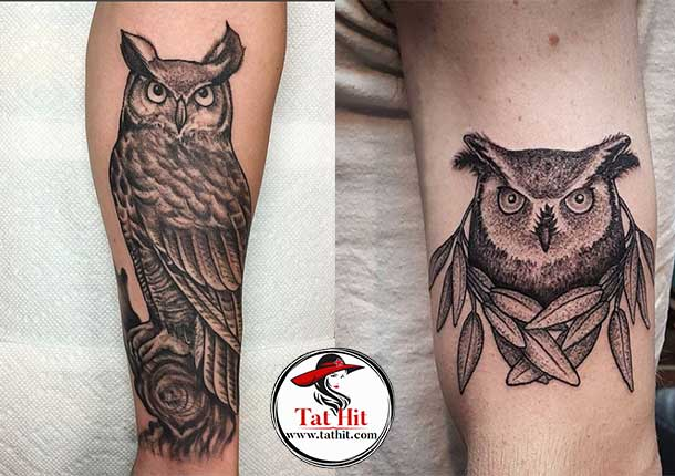 Great Horned Owl tattoos