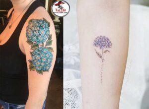Hydrangea tattoos