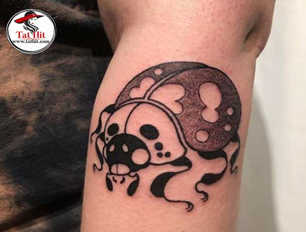 Splendid Black and White Ladybug Tattoos