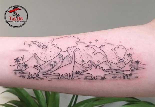 dinosaur tattoo drawing