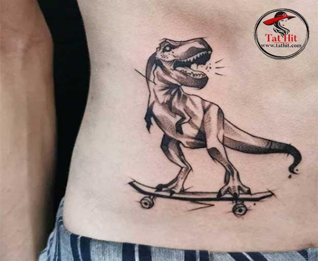 dinosaur tattoo idea for men