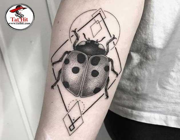 geometric ladybug tattoo images