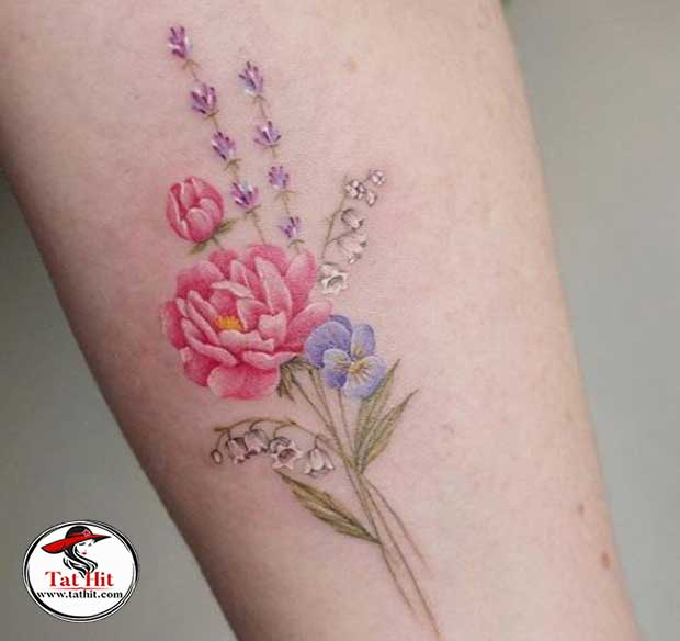 lily of the valley and daffodil tattoo