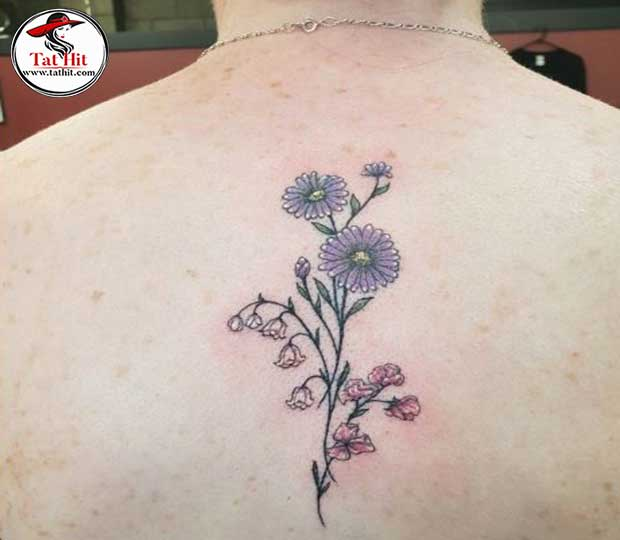 Lily Of The Valley And Daisy Tattoo