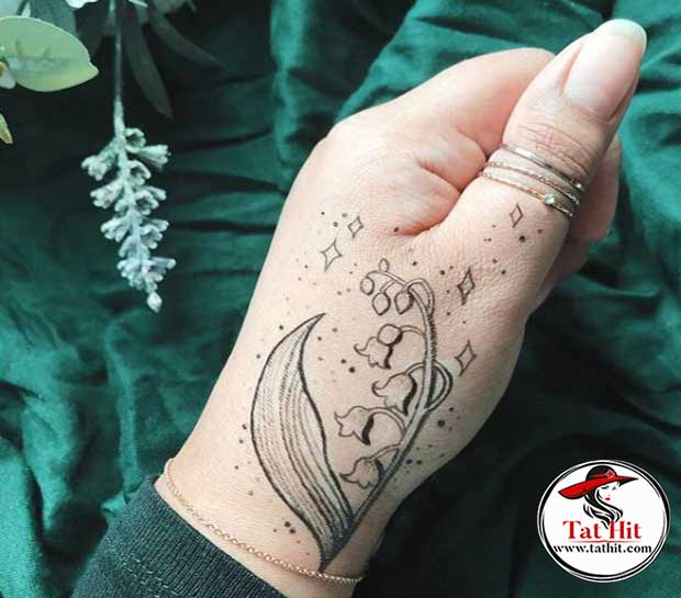 Lily Of The Valley Tattoo On Hand