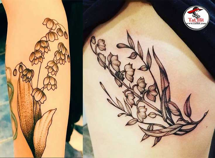 Drawing the tattoo of lily valley Flower Tattoo