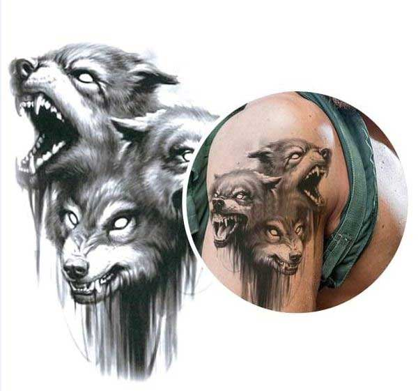 3 headed dog tattoo