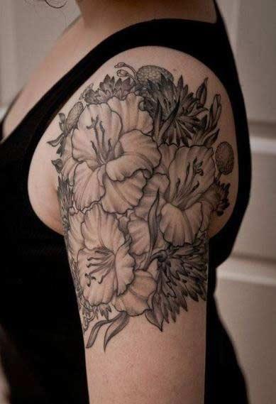 awesome gladiolus tattoos