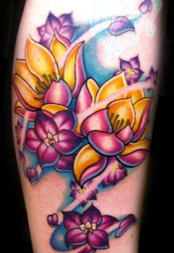 Amazing Larkspur Flower Tattoo Design
