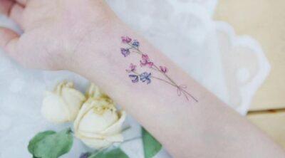 BEAUTIFUL LARKSPUR FLOWER TATTOOS